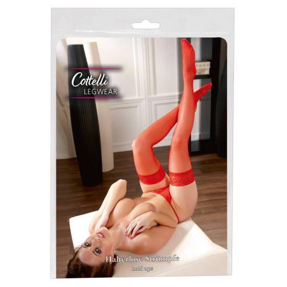 Cottelli - samodržící punčochy (červené)