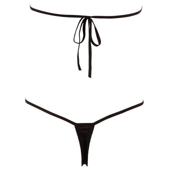 Otevřené erotické štrasové body - černé