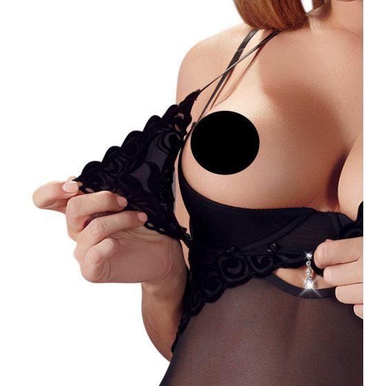 Cottelli String Body - sametové body (černé)