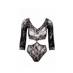 Lace body with 3/4 finger (black)
