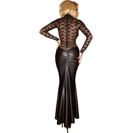 Wetlook Dress with Lace