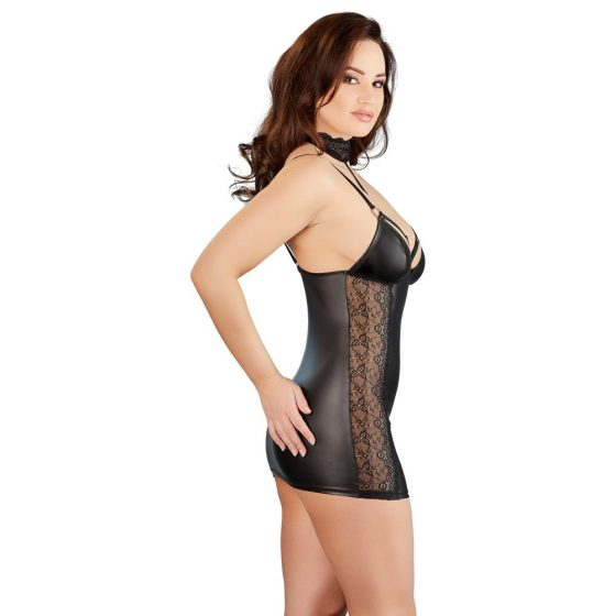 Matte Mini Dress with Lace