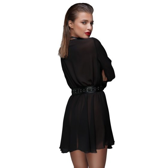 Noir - neckline, lenge tunic dress (black)