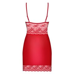 Obsessive Lovica - krajková noční košilka s tangy (červená)