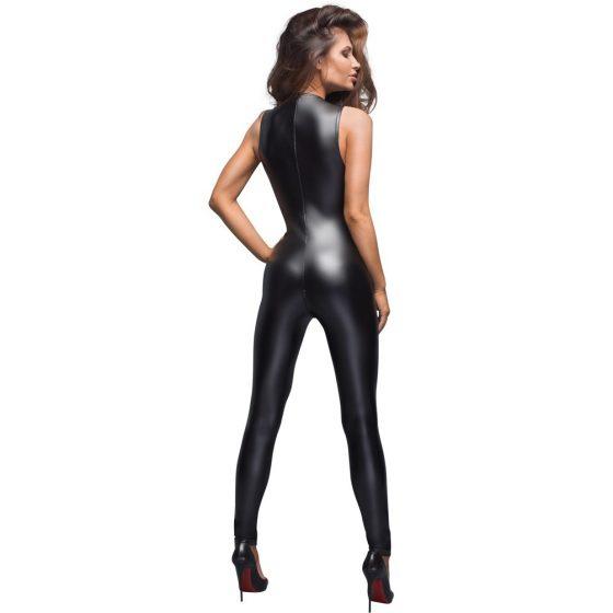 Noir - lesklý punčochové overal (černý)