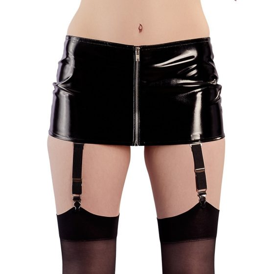 Black color - pantyhose lace miniskirt (black)