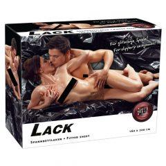 Lesklá pogumovaná plachta - černá (160 x 200cm)