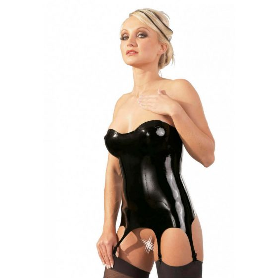Latex Corsage with Suspender Straps
