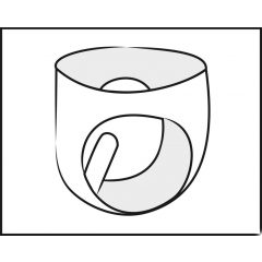 LATEX - Men's Bottom Conical Anal Dildo (Black)