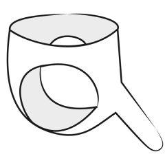 LATEX - spodky s vnějším dildem (černé)