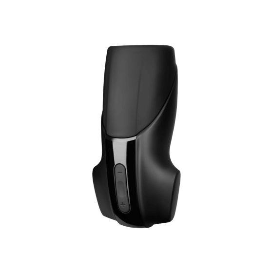 Satisfyer Men Vibration - nabíjecí, extra silný vibrátor na žalud (černý)