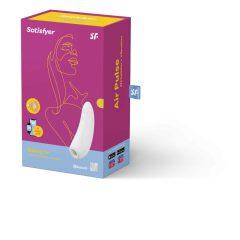 Satisfyer Curvy 1+ - nabíjecí vodotěsný smart vibrátor a stimulátor klitorisu (bílý)