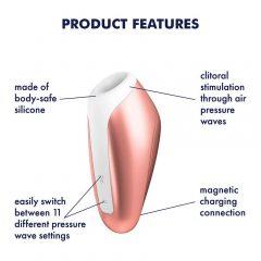 Satisfyer Love Breeze - nabíjecí, vodotěsný stimulátor na klitoris (broskvový)