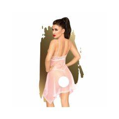 Penthouse Naughty Doll - krajkové šaty s tangy (růžové)