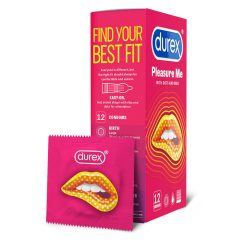 Durex Emoji PleasureMe - vroubkované-tečkované kondomy (12ks)