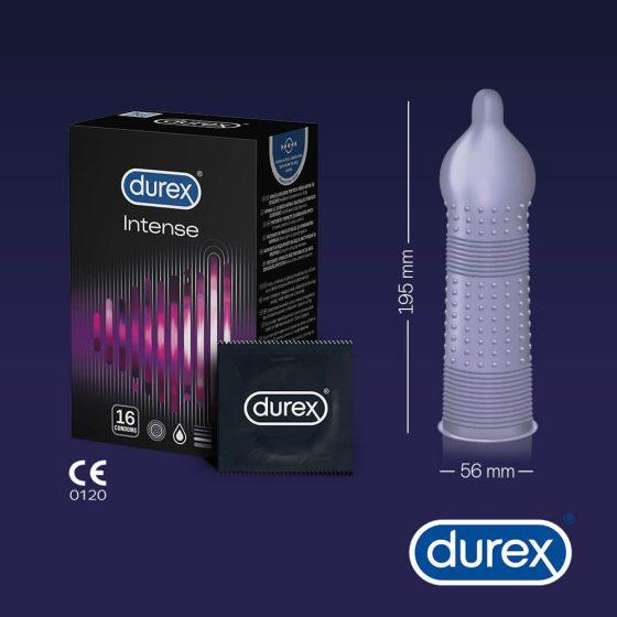 Durex Intense - vroubkované a tečkované kondomy (16 ks)