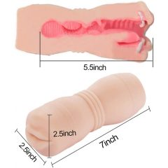 Tracys Dog Cup - realistický masturbátor umělé ústa se zuby (tělová barva)