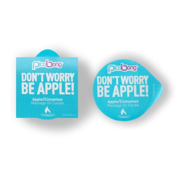 Picobong Don't Worry Be Apple! – masážna sviečka (jablko-škorica)
