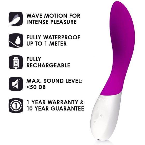 LELO Mona Wave - vodotěsný vibrátor na bod G (fialový)