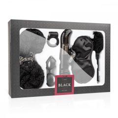 Loveboxxx I love Black - svazovací souprava s vibrátorem (6 dílná) - černá