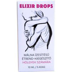 Elixír - výživový doplněk na rostlinné bázi, pro ženy (10 ml) - malina