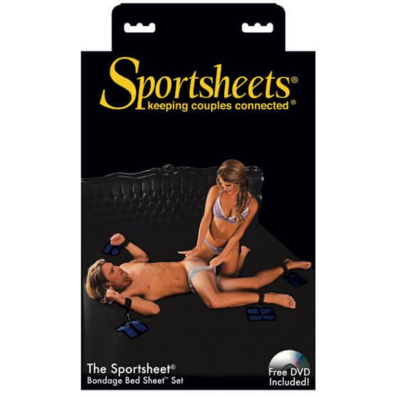 Sportsheets - souprava na připoutání k posteli (černá)