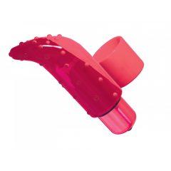 Frisky Finger - vodotěsný prstový vibrátor (růžový)