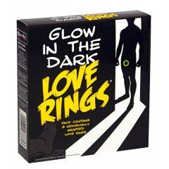Love Rings - sada ve tmě svítících kroužků na penis (3ks)