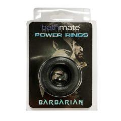 Bathmate Barbiano - silikonový erekční kroužek (černý)