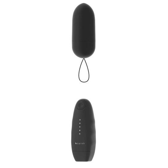 B Swish - bnaughty Unleashed Classic - vibrační vajíčko na dálkové ovládání (černé)