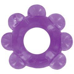 Love Ring - jemný kroužek na penis s kuličkami (fialový)