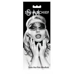 S & M - saténová maska na oči (růžová)
