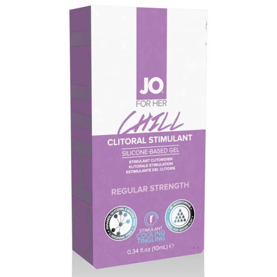 System JO Clotoral Stimulant Cooling Chill - stimulační gel pro ženy (10ml)