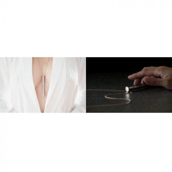 Vesper - luxusní vibrační náhrdelník (stříbro)
