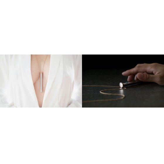 Vesper - luxusní vibrační náhrdelník (růžové zlato)