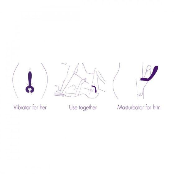 Rianne Duo - vodotěsný nabíjecí párový vibrátor (fialový)