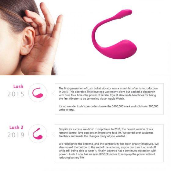 Lovense Lush 2 - nabíjecí smart vibrační vajíčko (růžové)