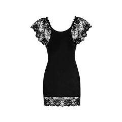 Obsessive Imperia - noční košile s tangy (černá)