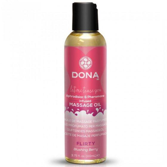 DONA Scented Blushing Berry - voňavý masážní olej (110ml)