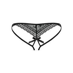 Obsessive picantiny - dámské kalhotky s dvojitým ramínkem (černé)