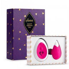 FEELZTOYS Anna - akumulátorové vibrační vajíčko s ovladačem (pink)