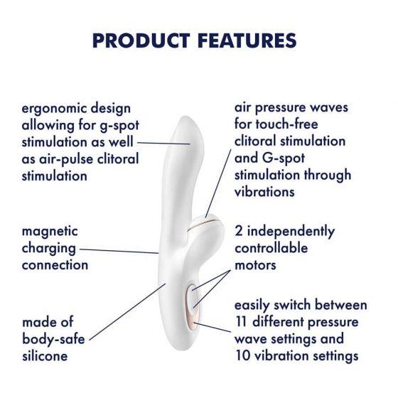 Satisfyer Pro+ G-spot - stimulátor klitorisu a vibrátor na bod G (bílý)