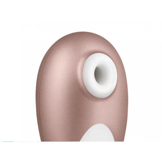 Satisfyer Pro 3 - vodotěsný akumulátorový vibrátor na klitoris (béžově bílý)