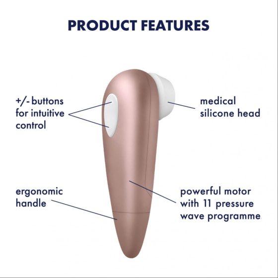 Satisfyer Number One - vodotěsný stimulátor klitorisu (hnědý)