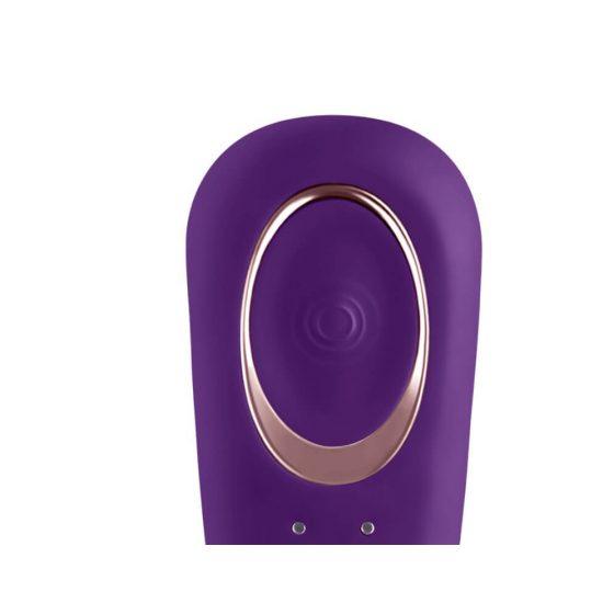 Satisfyer Double Classic - vodotěsný párový vibrátor (fialový)