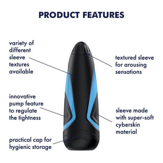 Satisfyer Men One - sací masturbátor (modro-černý)