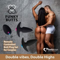 FEELZTOYS - FUNKYBUTTS REMOTE CONTROLLED BUTT PLUG SET FOR COUPLES