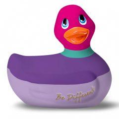 My Duckie Colors 2.0 - vodotěsný vibrátor na klitoris - proužkovaná kačenka (fialovo-růžová)