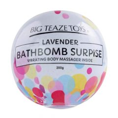 Big Teaze Toys - koupelová bomba s minivibrátorem (levandule)