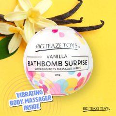 Big Teaze Toys - koupelová bomba s minivibrátorem (vanilka)